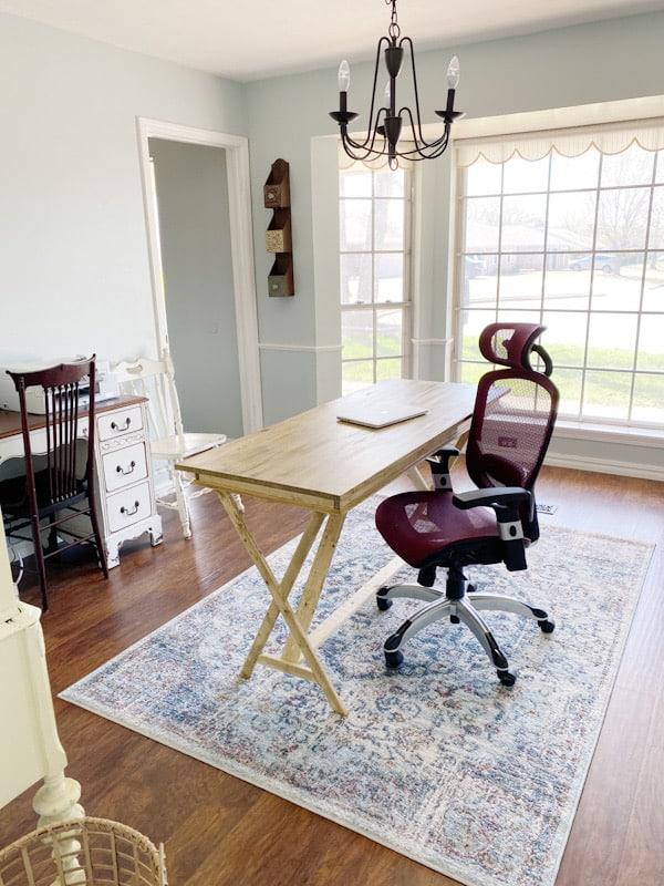 farmhouse desk with chair