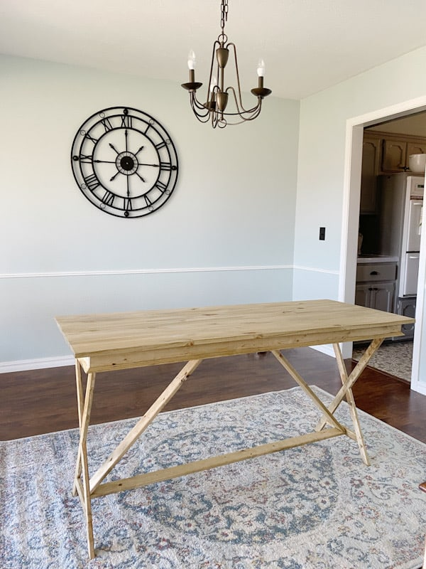 How to Stain Wood Furniture + Farmhouse Office Desk