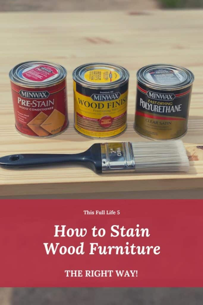 How to Stain Wood Furniture + Farmhouse Office Desk 2
