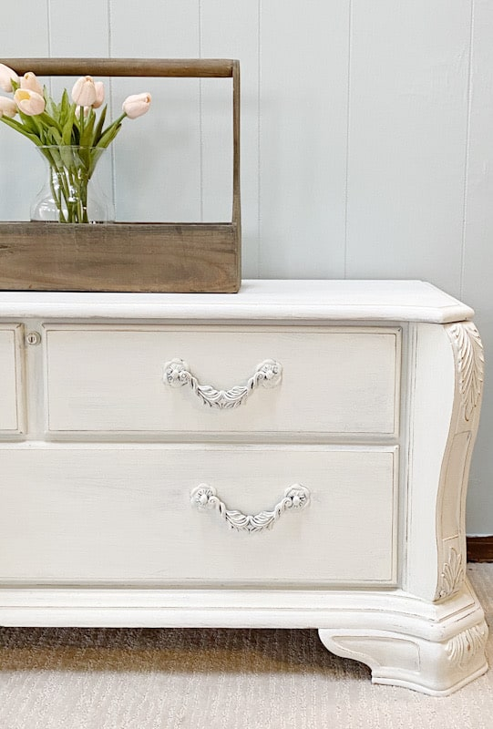 cedar chest with flowers