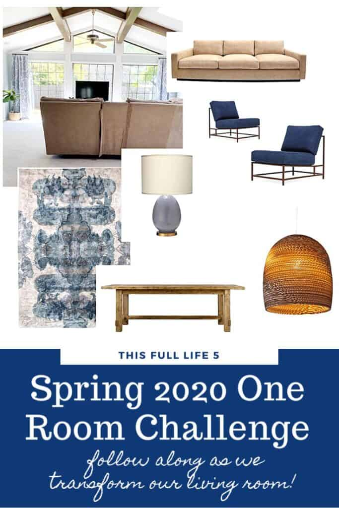One Room Challenge Spring 2020 - Living Room Week 1 3