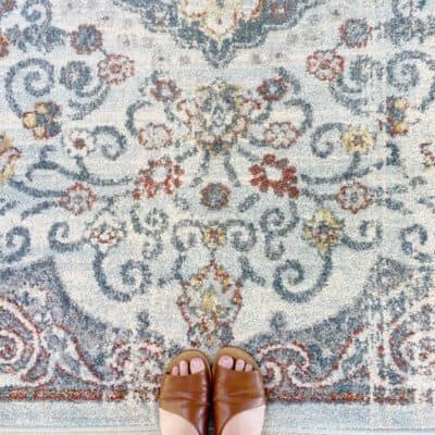 feet on rug