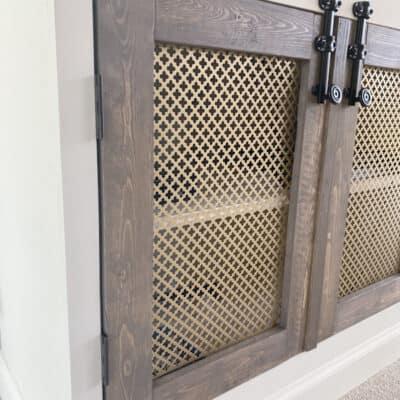 surface bolts on stained wood doors