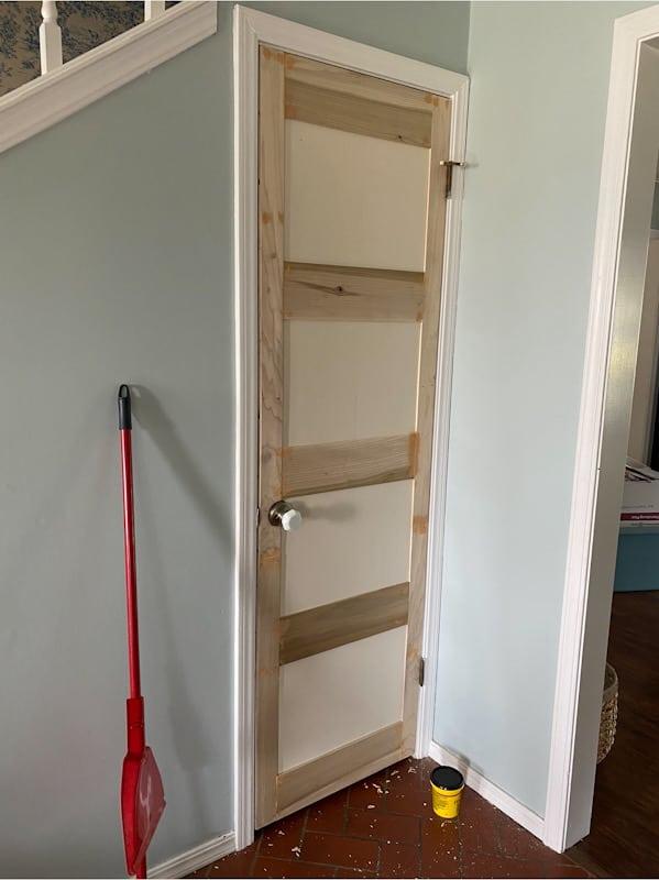 DIY Panel Door: How to add Moulding to a Flat Door 4