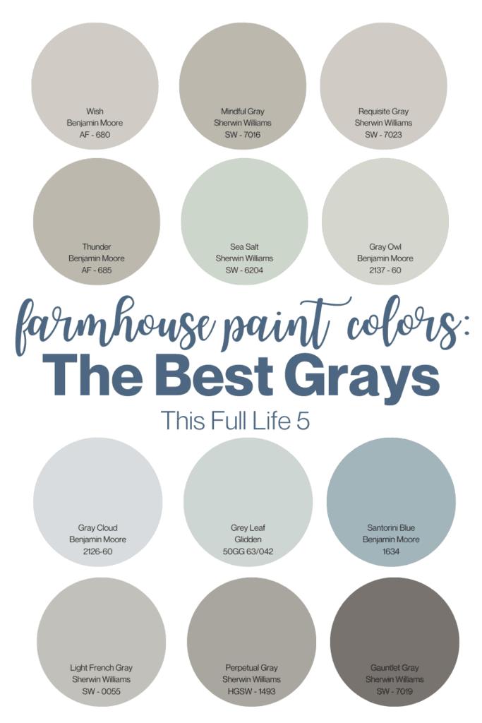 Farmhouse Paint Colors - 12 Best Gray Paints 2