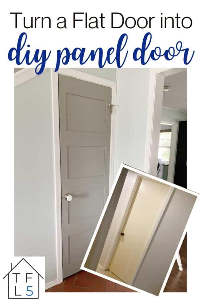 DIY Panel Door: How to add Moulding to a Flat Door 8