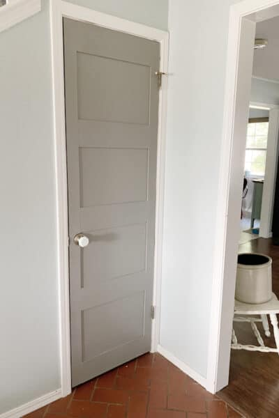 diy panel door painted gray