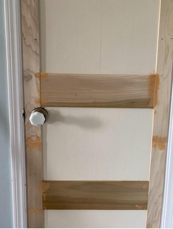 DIY Panel Door   Add Moulding to a Flat Door 5