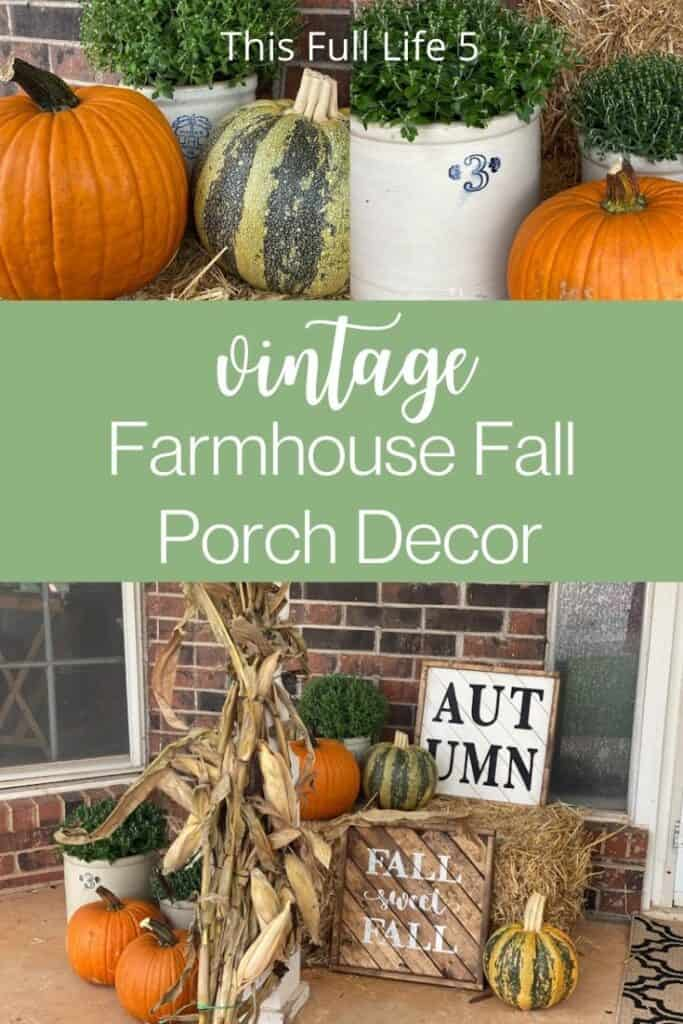 Simple Farmhouse Fall Porch Decor 1