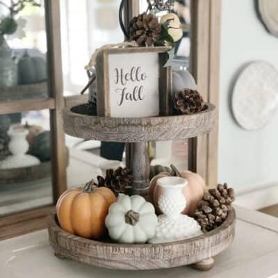 fall styled tray