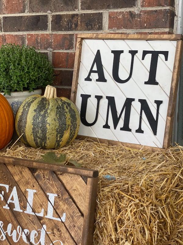 autumn wood sign