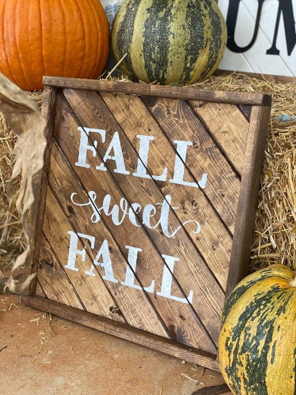 fall sweet fall wood sign