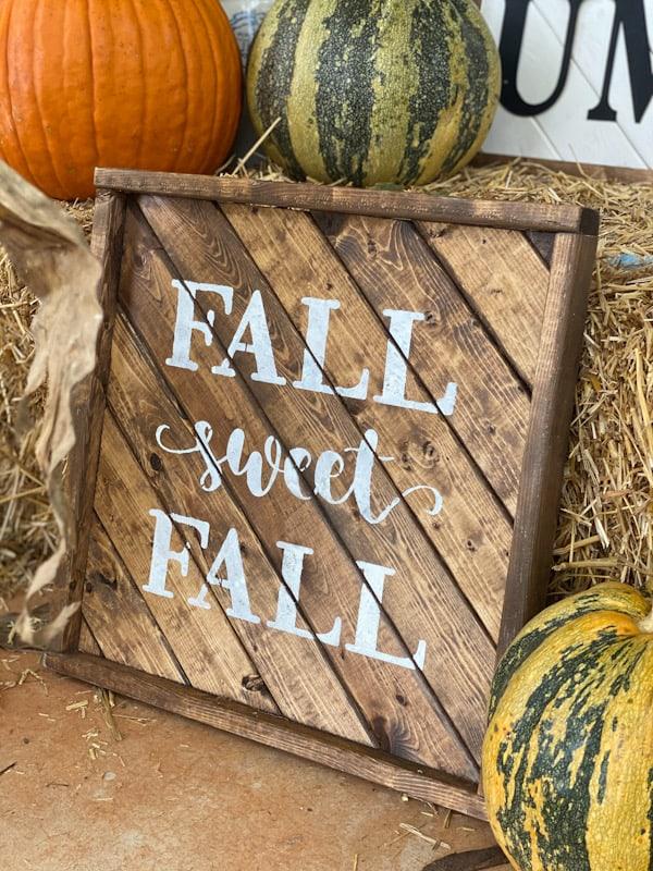fall sweet fall wood sign