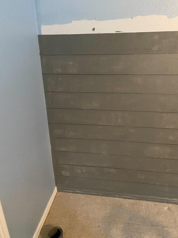 gray painted shiplap