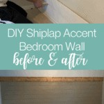 DIY Shiplap Accent Wall