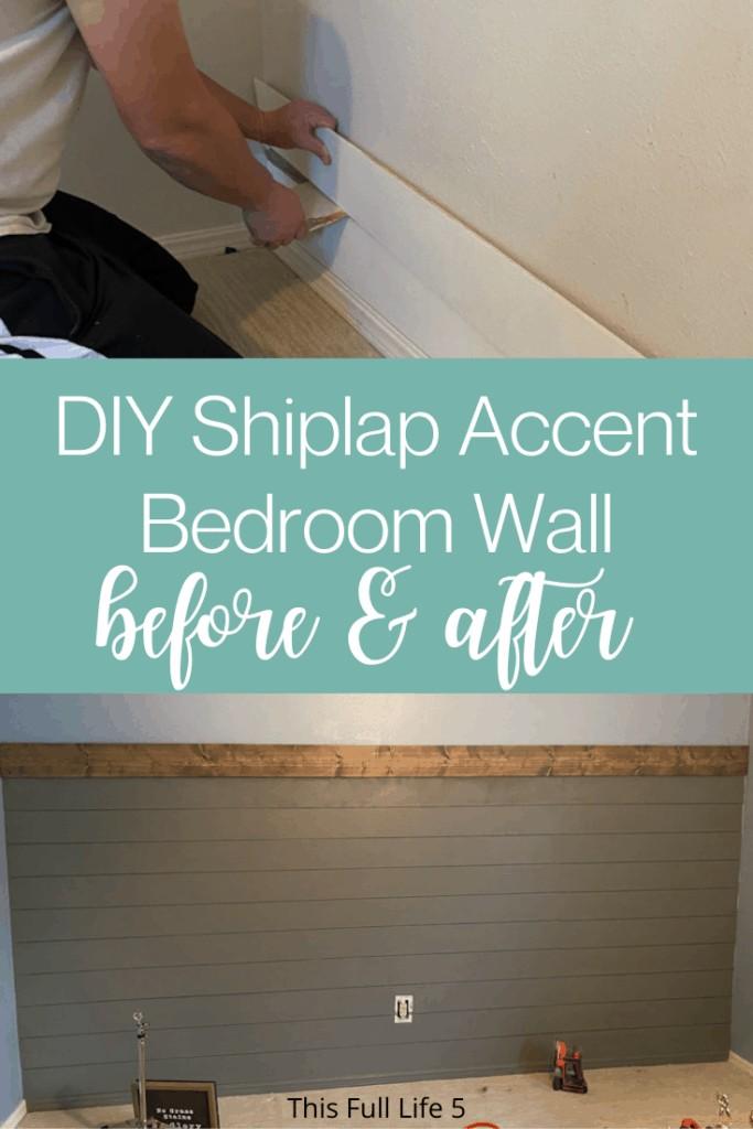 DIY Shiplap Wall 1