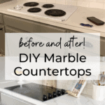 marble countertop before and after