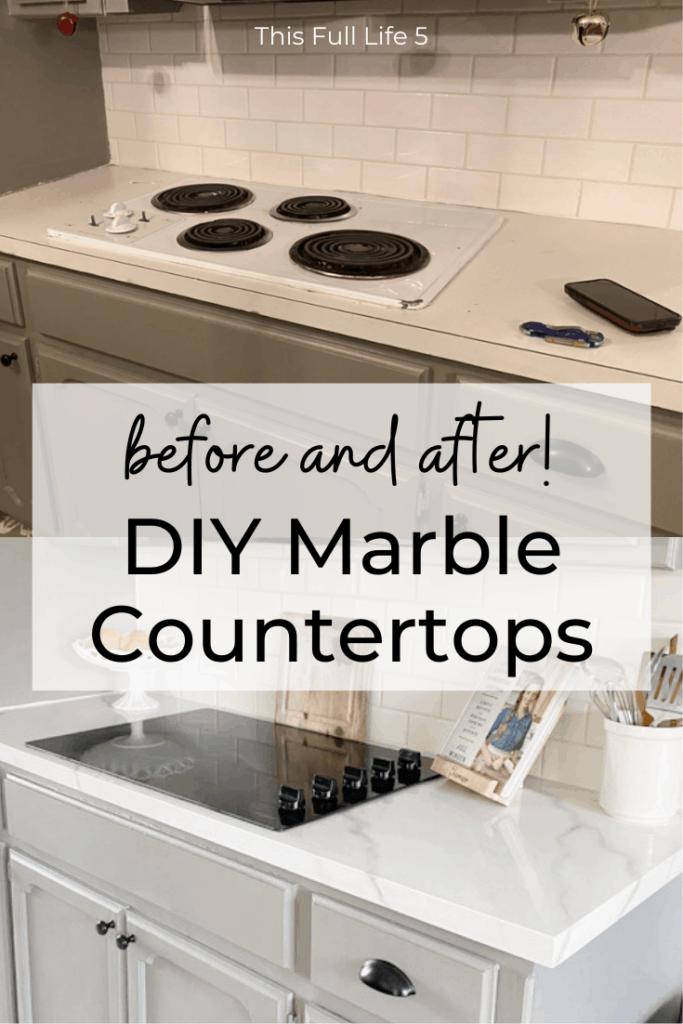 Beautiful DIY Marble Countertops 5
