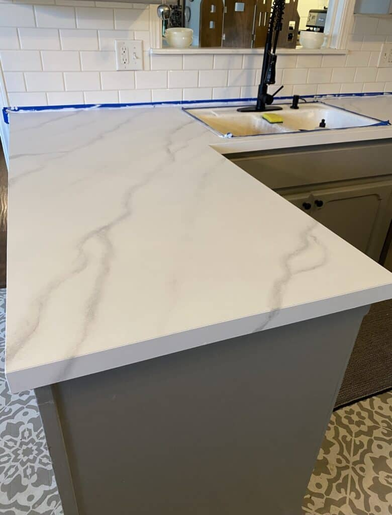 faux marble countertop