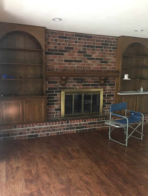 Easy DIY Painted Brick Fireplace 1