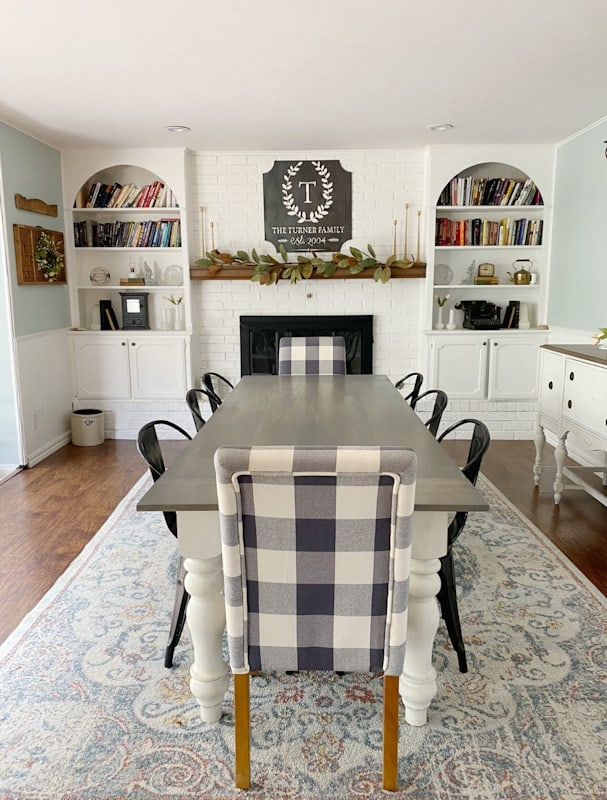 Easy DIY Painted Brick Fireplace